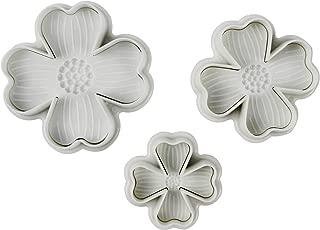 Verdental Four-leaf Clover Pattern Cake Mold DIY Cake Plunger Cutter Molds Sugarcraft Cake Decorating (3-pieces)