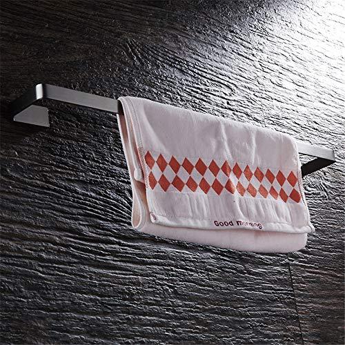 WANDOM Badkamer Accessoires Enkele handdoek Bar 304RVS Wandmontage Handdoek Rack Vierkant Chassis Plank Geborsteld Nikkel