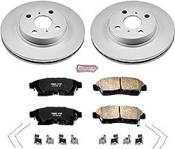 Power Stop CRK1151 Coated Brake Rotor & Ceramic Brake Pads- front