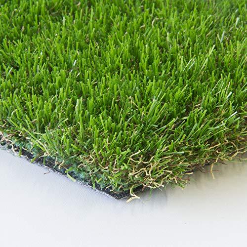 Steffensmeier Kunstrasen Rasenteppich New Zealand   Strapazierfähiger 42 mm dicher Flor, Leicht zu verlegen, Größe: 200x150 cm
