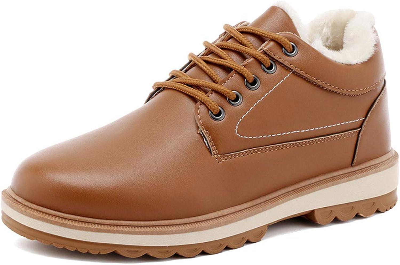 YAN Herrenschuhe Microfiber Fall & Winter Martin Stiefel Britische Mode High-Top-Casual-Schuhe Outdoor-Wanderschuhe Blau Schwarz-Braun,braun,44