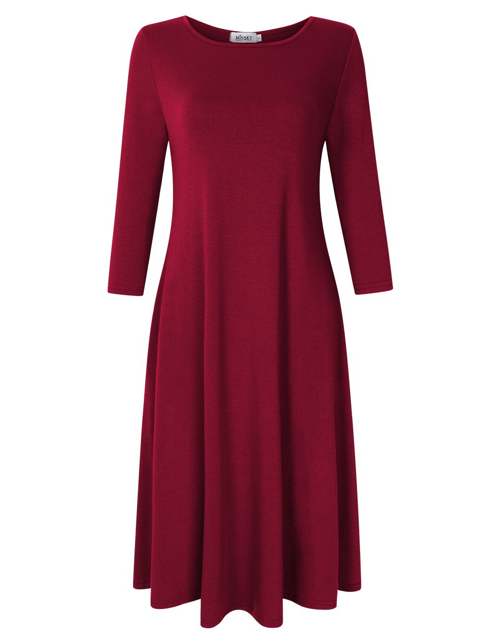 Available at Amazon: MISSKY Women's Pullover Pocket Loose Swing Casual Dress
