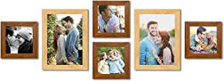 Art Street Set of 6 Individual Beige Wall Photo Frames Wall Decor Free Hanging Accessories Included ||Mix Size||4 Units 5x...