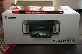 Canon PIXMA PRO-100 Color Professional Inkjet Photo Printer + Canon Luster Photo Paper, 13