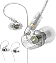 ROCUSO Noise-Isolating Musician's In Ear Monitor, Wired Over Ear Stereo Bass..