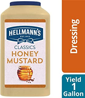 Hellmann's Classics Honey Mustard Salad Dressing Jug Gluten Free, No Artificial Flavors or High Fructose Corn Syrup, Colors from Natural Sources, 1 gallon, Pack of 4
