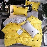 Sookie 3 Pieces Eyelash Curved Duvet Cover and Pillow Shams Cute dorm Bedding Set