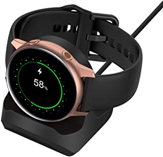 Stand for Samsung Galaxy Watch Active 40mm/ Active 2 40mm 44mm, Non-Slip Silicone Charging Dock Stand Holder Bracelet, Cha...
