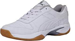 Livia Unisex Non-Marking White Badminton Sports Shoe