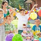 MengH-SHOP Tortenständer 3 Etagen Cupcake Ständer Einhorn Muffin Ständer aus Karton für Hochzeit Party Geburtstag Baby Duschen Kuchen Dessert Torten Etagere - 4
