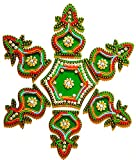 DMS RETAIL Attractive Acrylic Stone and Pearl Kundan Rangoli - Multiple Design can be Done-Limited Stock