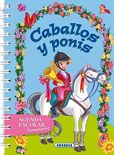 Agenda escolar permanente - Caballos y ponis (Agendas segunda mano  Se entrega en toda España