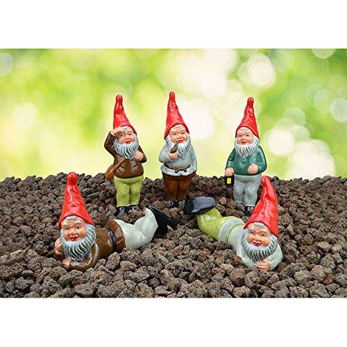 Heissner Die Waldmänner, Serie mit 5 Gartenzwergen (06222-00)