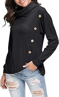Womens Loose Casual Tunic Tops Long Sleeve Sweatshirt Blouse Shirts