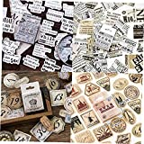 Froiny 46pcs / Caja Vintage Pegatinas de Viaje Kraft Adhesivo Decorativo Etiqueta Etiquetas de Sellado Scrapbooking Diario DIY Álbumes