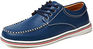 Bin Zhang Men's Business Oxford Casual Comfortable Simple Soft British Fashion Formal Shoes (Color : Blue, Size : 8 UK)