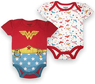 Wonder Woman Infant Baby Girls 2 Pack Bodysuit