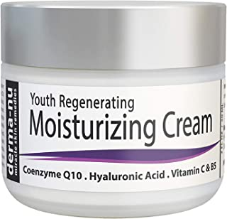 Anti Aging Face Cream Enriched with Collagen Boosting Peptides, Hyaluronic Acid, Coenzyme Q10, Organic Aloe, Coconut Oil, MSM, Vitamins C and B5 – Face Moisturizer Repairs, Protects and Hydrates Skin