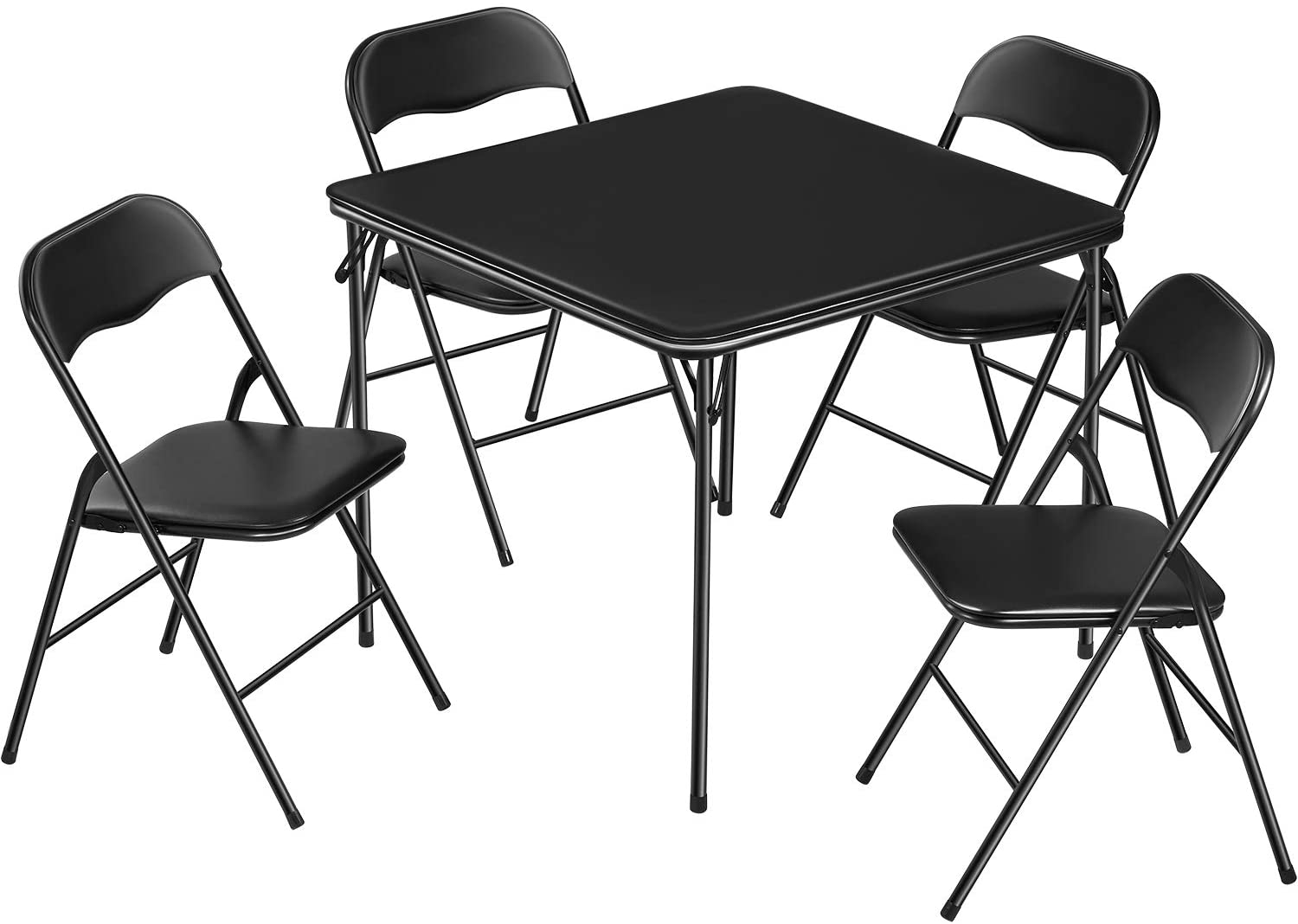 5-Piece Card Table and Chairs Set 4 for Folding Louisville-Jefferson County Mall Padded Max 52% OFF
