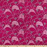 Kokka Echino Spring Leinen/Baumwolle Canvas rosa Stoff