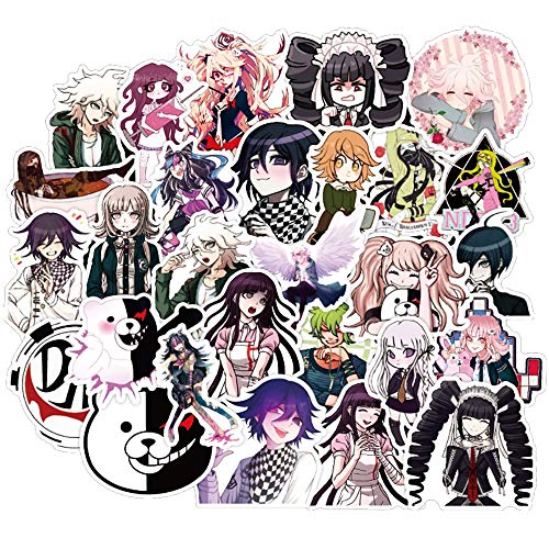 Mixed Danganronpa Game Stickers Diy Snowboard Laptop Luggage Fridge Guitar Graffiti Waterproof Classic Kid Toy Stickers 50Pcs