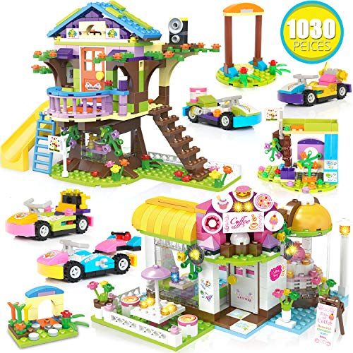 Kith Coffee House Tree House Creative Building Toy Set for Kids, Best Learning and Roleplay Gift for Girls and Boys with Storage Box (1030 Pieces)