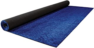 House, Home and More Outdoor Artificial Turf with Marine Backing – Electric Blue 6 Feet X 10 Feet – Spectrum Series .25 Inch Pile Height