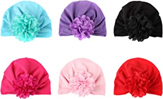 Zando   Baby Turban Headwraps Newborn Hospital Hats Soft Bow Infant Toddler Cap 6 Pack / 0-12 Month One Size