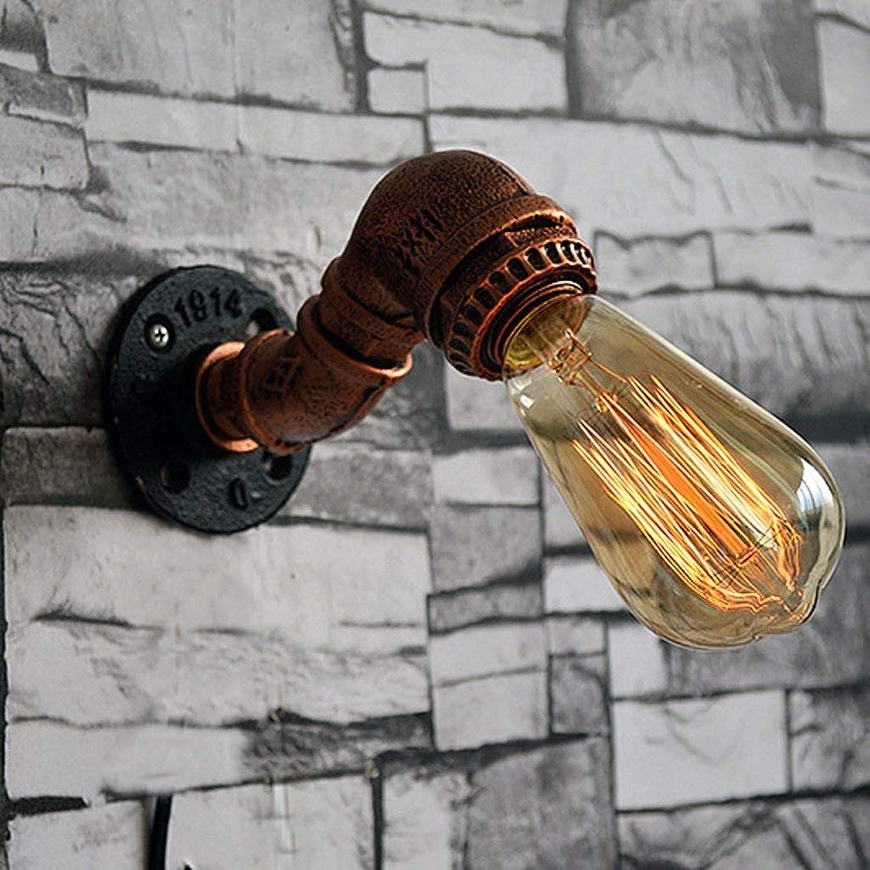 WENYAO Wandleuchte Continental Cafe Home Bar Eisen Wasserpfeife Wandleuchte Mode