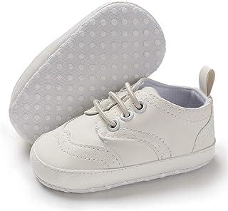 LAFEGEN Infant Baby Boys Girls Sneakers PU Leather Anti-Slip Breathable Sole Newborn Toddler First Walker Crib Sneaker