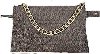 Michael Kors Brown MK Signature Fanny Pack Belt Bag