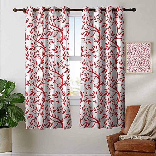 petpany Cortinas recámara, Color Rojo y Negro, diseño de Labios, para Dormitorio y Cocina, 1 par