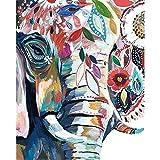 yaonuli Elefante Abstracto Animal DIY Pintura Digital Lienzo de Arte Navidad decoración del hogar 40x50 cm Sin Marco