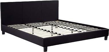 Cadre de lit Dico 180x200cm Noir Tissus
