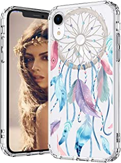 MOSNOVO iPhone XR Case, Dream Catcher Clear Design Printed Transparent Hard Back Case with TPU Bumper Protective Case Cover for iPhone XR
