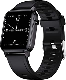LTLGHY Smartwatch Mujer, Reloj Inteligente Hombre con Monitor De Oxígeno En Sangre, Frecuencia Cardíaca Seguimiento del Sueño Impermeable Reloj Deportivo para Correr 15 Modos Deportivos,Negro