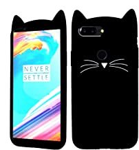ANVIKA 3D Mustache Cute Cat Kitty Ears Meow Soft Hello Kitty Silicone Rubber Back Cases Cover for Honor 9 Lite (Baby Black)