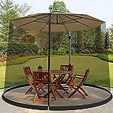 MZBZYU Terrasse Regenschirm Abdeckung Moskitonetz Mit Reißverschluss Für Garten, Gazebo Balkon,...