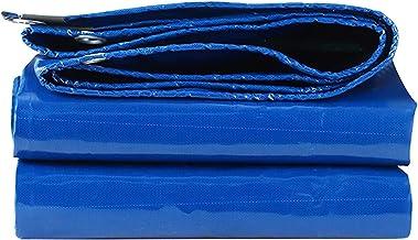 ZZYE Dekzeil Multi Purpose Tarp Blue Heavy Waterproof Tarpaulin Outdoor Camping Car zonnezeil (Color : Blue, Size : 3.8×3.8m)