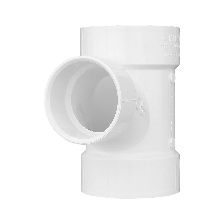 CHARLOTTE PIPE 4 x 3 DWV REDUCING W Drain Sanitary TEE Max 71% Max 72% OFF OFF