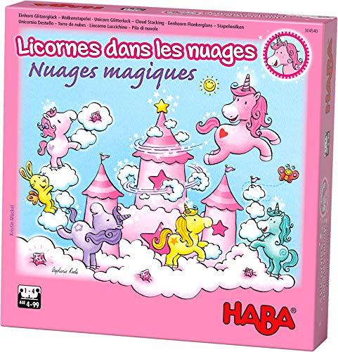 HABA - Licornes dans Les Nuages - Nuages Magiques - Jeu coopératif - 4 Ans et Plus - Réf 304540