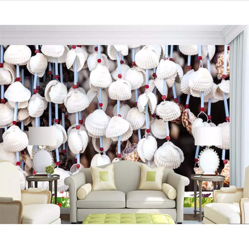 Amazon Co Jp Wuyyii カスタム壁紙地中海スタイル貝殻の背景ウォールホームデコレーションリビングルームのベッドルームテレビの壁3dの 壁紙 280x0cm Diy 工具 ガーデン