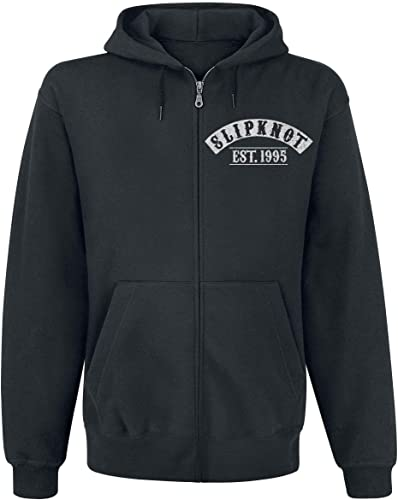 Slipknot Flaming Goat Sweat-Shirt zippé à Capuche Noir