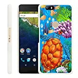 Google Nexus 6P Case Turtle,Gifun Slim White Hard Back Case