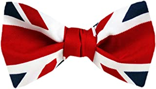 FBT FLAG 313 Red White Blue UK Flag Union Jack Self Tie Bow Tie Red White Blue One Size