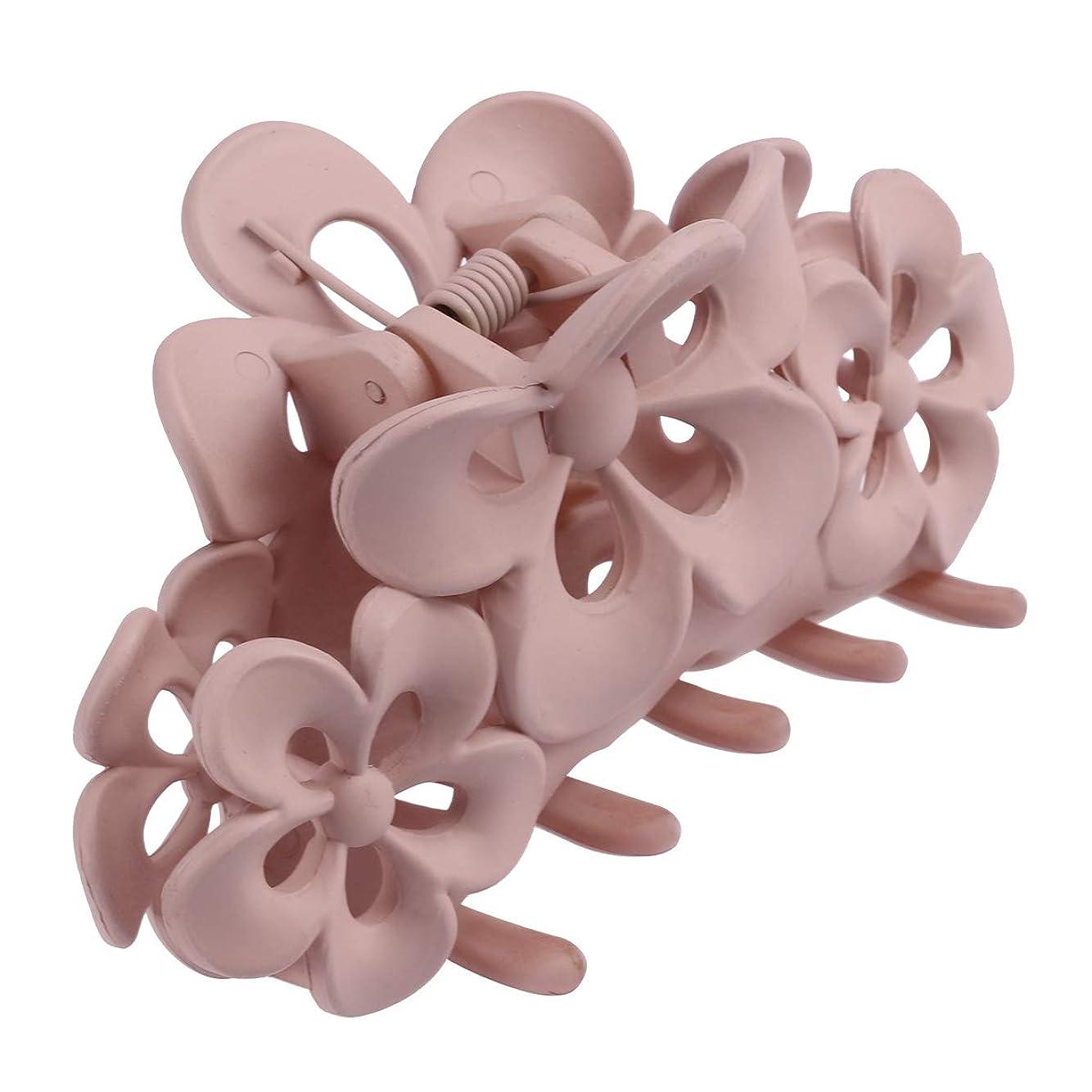 暗記する暴行ダムBeaupretty アクリルの髪の毛の爪大きな髪の毛の爪くぎの爪髪の梅の花ファッションヘアアクセサリー(カーキ色)
