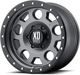 XD Series by KMC Wheels XD126 Enduro Pro Matte Gray Wheel with Black Ring (15x8