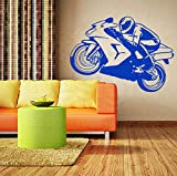 Art New Design décor de maison pas cher Vinyle de course moto Stickers Muraux...