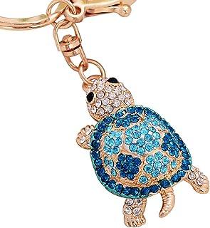 Luxurious Rhinestone Turtle Pendant Keychain Key Ring Holder Bag Car Hanging Ornament Fine Workmanship Souvenir Gift,Colou...