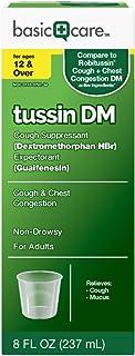 Basic Care Tussin DM, Cough Suppressant & Expectorant, 8 Fluid Ounces